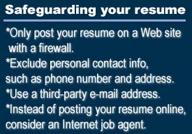 the dangers of posting your resume online jul 29 1999