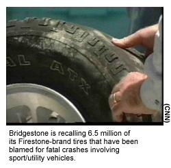 Firestone Recalls 6 5 Million Suv Tires Aug 9 2000