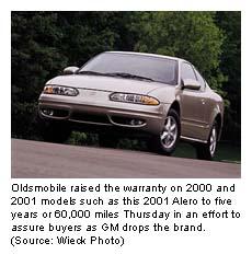 Olds Extends Warranty Dec 21 2000