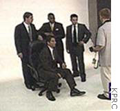The men of Enron photo shoot