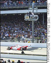 Last year's Indy 500 winner from Marlboro Team Penske couldn't display the sponsor's logo due to a split in the sport.