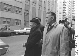 Carlo Gambino under arrest in NYC in 1970