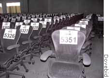 Enron's army of Aeron chairs are up for sale