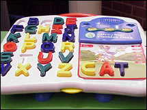Learning toys like the LeapFrog Phonics Desk are hot this year (CNN/File)