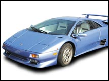 1997 Lamborghini Diablo seized when illegally imported. Sold for $84,000.