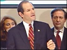 Eliot Spitzer at Friday's news conference