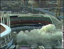 Cinergy Field's demolition may have helped make the stock one of the few winners on the index in 2002.