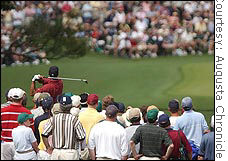 There will be fewer corporate execs and customers in the crowd at the Masters this year. Photo by Jonathan Ernst.