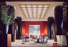 Can you feel the chi? The Feng Shui lobby of the Park Hyatt in Chicago.