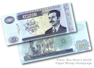 The value of the Saddam dinar has more than doubled versus the dollar in recent weeks.