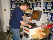 Keith Lichtman calls the self-checkout machine at Home Depot