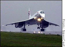 The British Airways Concorde, shown in a 2001 photo, will make its last commercial flight Oct. 24.
