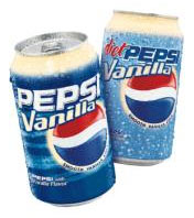 Pepsi Vanilla and Diet Pepsi Vanilla debut Saturday. (Courtesy:PepsiCo.)