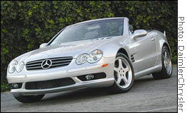 Cadillac Xlr Vs Mercedes Sl500 Sep 12 2003