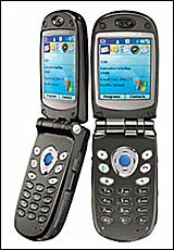 New Motorola MPX 200 smartphone with Microsoft Windows mobile software. (Courtesy: Motorola)