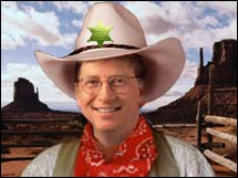 Virus writers beware, there's a new sheriff in town...Microsoft Chairman Bill Gates.