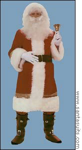 This Super Deluxe Old Time Santa Suit costs $399.95 on www.santasuits.com.