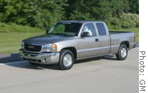 The hybrid version of the GMC Sierra.