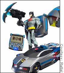 The VEIL- encoded remote Batman toys from Mattel.