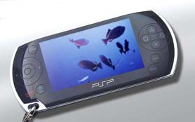 An early mock-up of Sony's PSP.