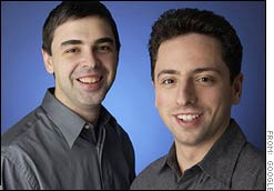 Larry Page, left, and Sergey Brin founded Google in 1998.