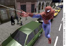 Peter Parker gets in the swing of things in Activision's Spider-Man 2 game.
