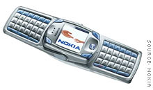 Nokia's new 6820 messaging phone availble from AT&T Wireless.