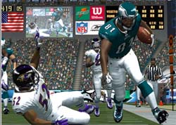 The graphical differences between ESPN NFL 2K5...