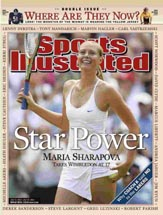 The Wimbledon win made Sharapova a major media star.