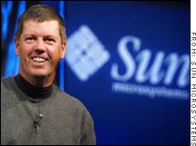 Sun Microsystems CEO Scott McNealy, not playing golf in this picture.