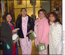 Some women didn't bother getting dressed to shop Friday morning at The Shops at Willow Bend in Plano, Texas.