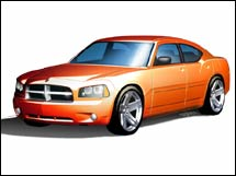 Official drawing of the 2006 Dodge Charger