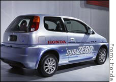 Honda plans to be the first automaker to lease an experimental fuel cell car to a customer.