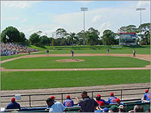 The Dodgers field at Vero Beach