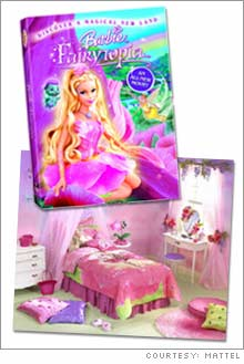 The new Barbie Fairytopia DVD will hit stores this spring; Sears will carry a line of Barbie-branded hues for the wall.