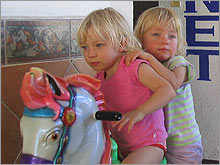 Fiona and Isabel Max are seasoned travelers thanks to free and discounted airfare for kids.