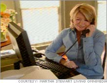 Martha Stewart, working at home during her 5-month confinement, chatted with fans online Monday.