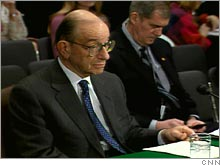 Fed Chairman Alan Greenspan told Congress that without reform, Social Security costs could cause the economy to 'stagnate or worse.'