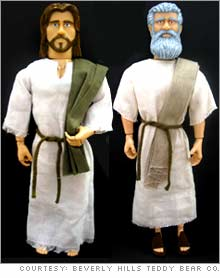 One2Believe will begin selling talking Jesus, left, and Moses dolls in May.