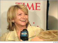 Martha Stewart attended a dinner celebration of Time magazine's