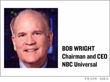 NBC chairman and chief executive Bob Wright says the network is prowling for its next acquisition.