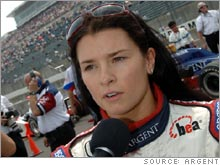 The attention to Danica Patrick's chances at the Indy 500 helped lift ratings for the race by 40 percent, according to ABC.