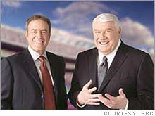 John Madden, right, is leaving ABC and his