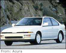 The Acura Integra is the top target of car thieves, according to a report.