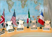 Hasbro unveiled the new Furby to an international delegation of young kids Tuesday at the United Nations Plaza.