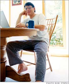 Accidental consultant: Working in pj's is nice, but what Terry Taylor loves about being solo is the extra family time.