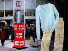 Japanese casual apparel chain Uniqlo, seller of