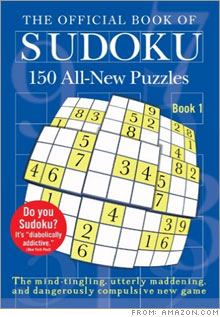Puzzling popularity: The ten most popular Sudoku books on Amazon.com, including this one from Plume, have sold nearly 200,000 copies during the past few months, according to data from Nielsen BookScan.