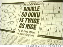 Lucky numbers: Newspapers such as The New York Post have latched on to the Sudoku craze.