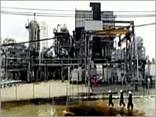 A Port Arthur, Texas, refinery damaged by Hurricane Rita.